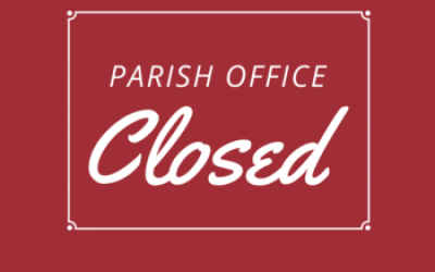 The Church office will be closed Tuesday, April 27