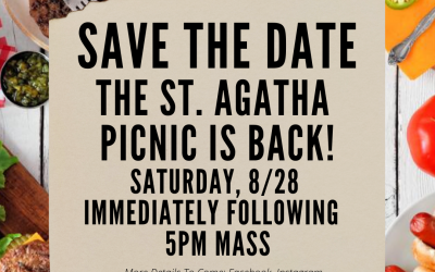 Save The Date: Parish Picnic August 28th!